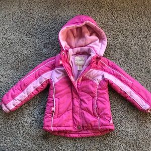 Pink girl jacket size 4T